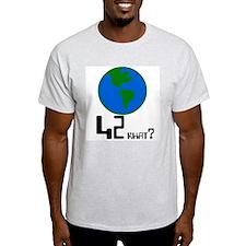 42 what? world -  Ash Grey T-Shirt