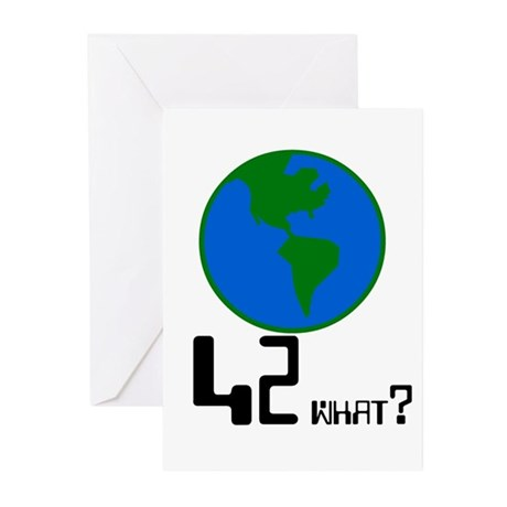 42 what? world - Greeting Cards (Pk of 10)