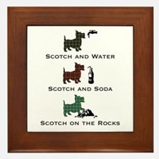 Scotties and Scotch - Framed Tile