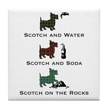 Scotties and Scotch - Tile Coaster