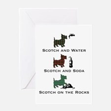 Scotties and Scotch - Greeting Card