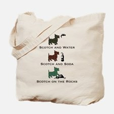 Scotties and Scotch - Tote or Beach Bag