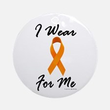 I Wear Orange For Me 1 Ornament (Round)