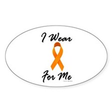 I Wear Orange For Me 1 Oval Decal