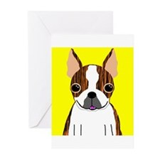 Boston Terrier (Brindle) Greeting Cards (Pk of 10)