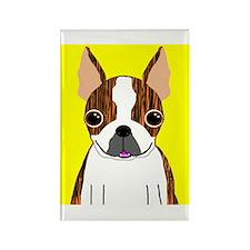 Boston Terrier (Brindle) Rectangle Magnet