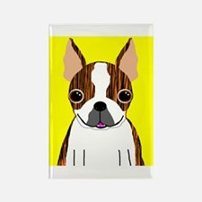 Boston Terrier (Brindle) Rectangle Magnet