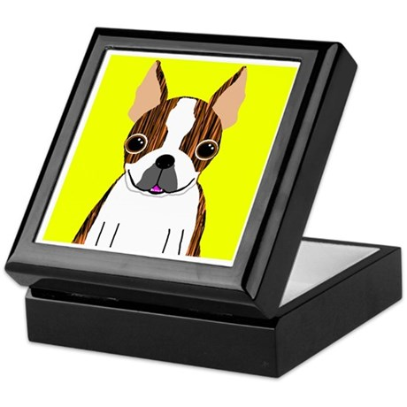 Boston Terrier (Brindle) Keepsake Box
