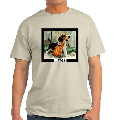 Beagle & Baseball Ash Grey T-Shirt