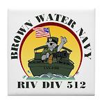 RivDiv 512 River Rats Tile Coaster