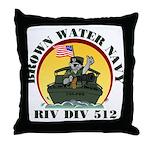 RivDiv 512 River Rats Throw Pillow