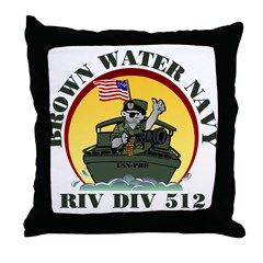 RivDiv 512 River Rats Throw Pillow