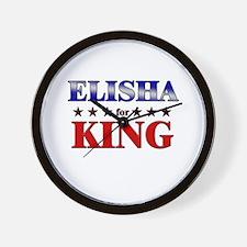 ELISHA for king Wall Clock