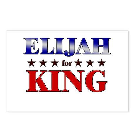 ELIJAH for king Postcards (Package of 8)
