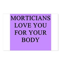 mortician gifts t-shirts Postcards (Package of 8)