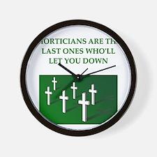 mortician gifts t-shirts Wall Clock