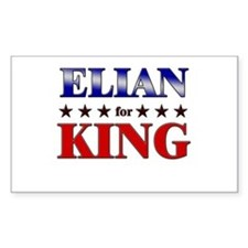 ELIAN for king Rectangle Decal