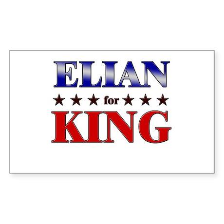 ELIAN for king Rectangle Sticker