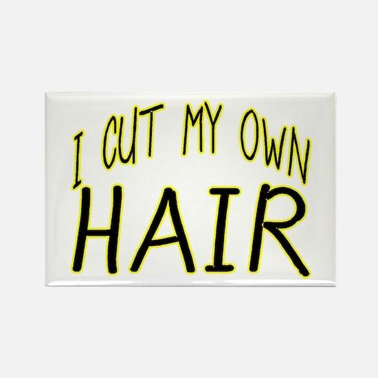 Hair Cut Rectangle Magnet