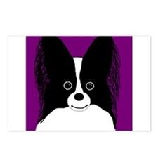 Papillon (B&W) Postcards (Package of 8)