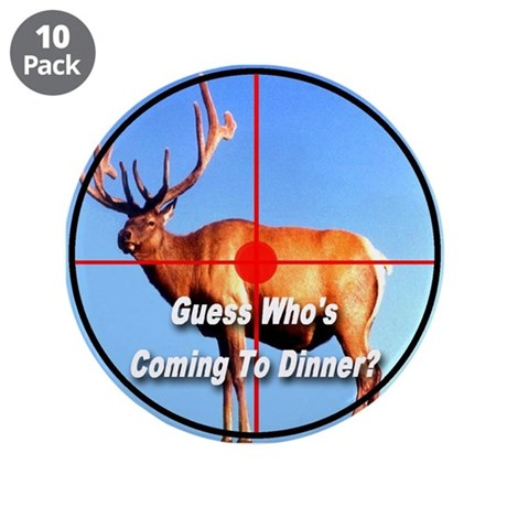 "Guess Who's Coming To Dinner? 3.5"" Button (10 pack"
