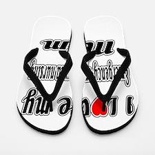 I Love My EMERGENCY AND TRAUMA NURSING Flip Flops