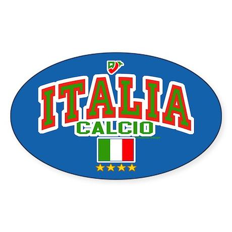Italia Calcio/Italy Soccer/Football Sticker (Oval)
