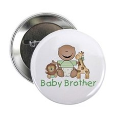 """Critter Friends Baby Brother (AF) 2.25"""" Button"""