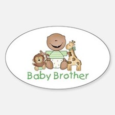 Critter Friends Baby Brother (AF) Oval Decal