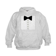 Black bow tie formal tuxedo Hoodie