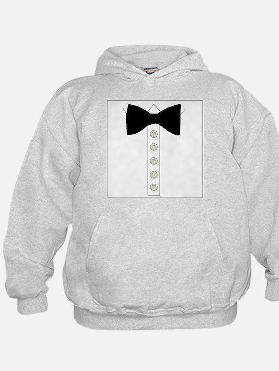 Black bow tie formal tuxedo Hoodie