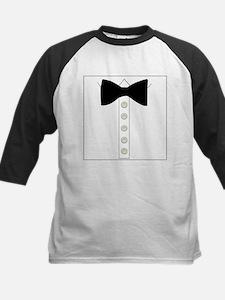 Black bow tie formal tuxedo Tee