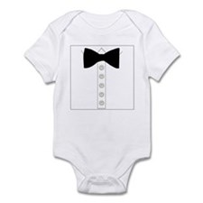 Black bow tie formal tuxedo Infant Bodysuit