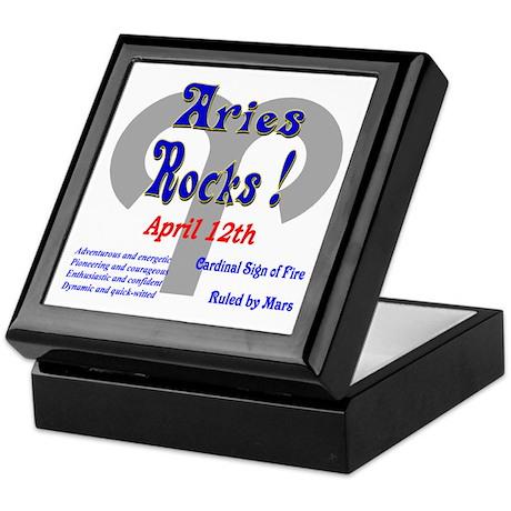 Aries April 12th Keepsake Box