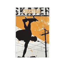 Christian Skater 4 Rectangle Magnet
