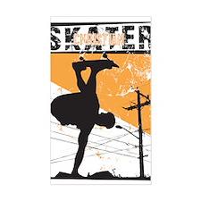 Christian Skater 4 Rectangle Decal