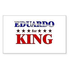 EDUARDO for king Rectangle Decal