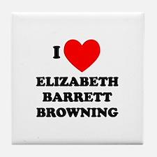 Elizabeth Barrett Browning Tile Coaster