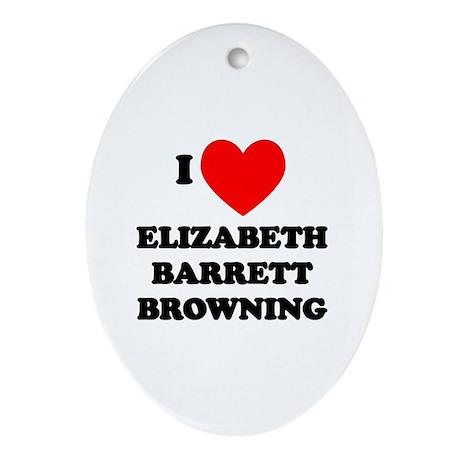 Elizabeth Barrett Browning Oval Ornament