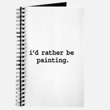 i'd rather be painting. Journal