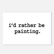 i'd rather be painting. Postcards (Package of 8)