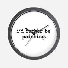 i'd rather be painting. Wall Clock