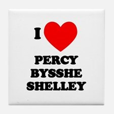 Percy Bysshe Shelley Tile Coaster