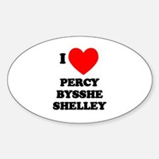 Percy Bysshe Shelley Oval Decal