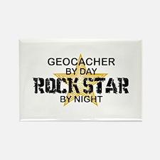 Geocaching Rock Star Rectangle Magnet