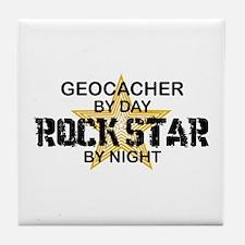 Geocaching Rock Star Tile Coaster