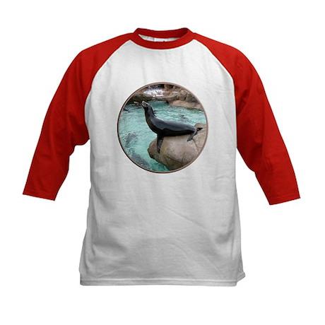 Helaine's Sea Lion Kids Baseball Jersey