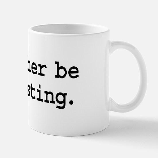 i'd rather be podcasting. Mug