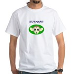 lucky monkey with lucky clover on b- White T-Shirt