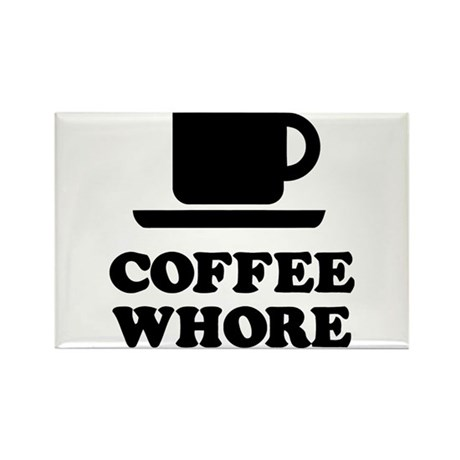 Coffee Whore Rectangle Magnet (100 pack)